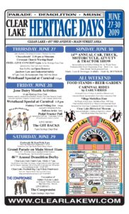 2019 Clear Lake Heritage Days Event Poster
